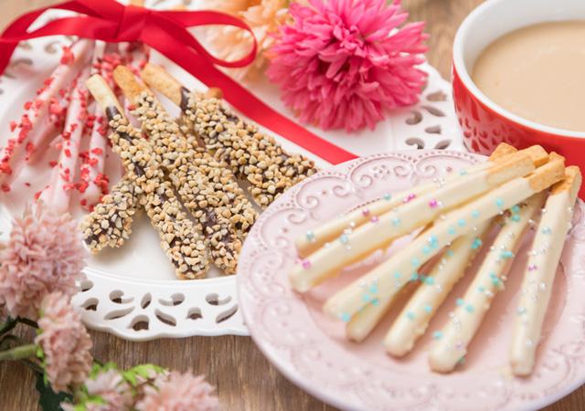 お返しにあげたい♡スティッククッキー&ホワイトショコラロイヤルミルクティのイメージ