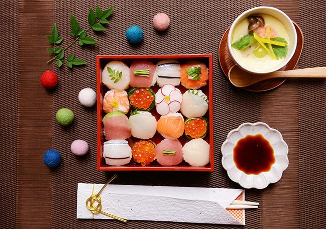和食もかわいらしく♡手まり寿司を作ろうのイメージ