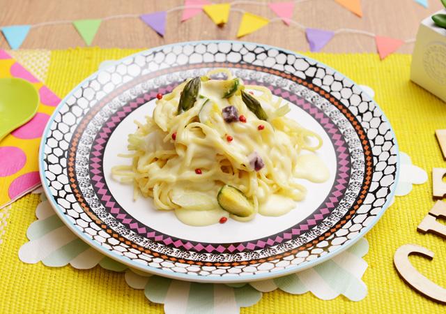 製菓調理師科の方にオススメ! 春野菜クリームパスタとクレームブリュレのイメージ