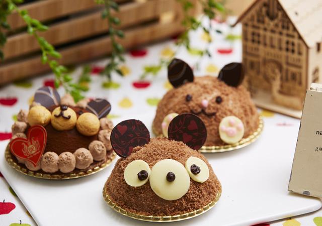 かわいい♡チョコレートのアニマルケーキのイメージ
